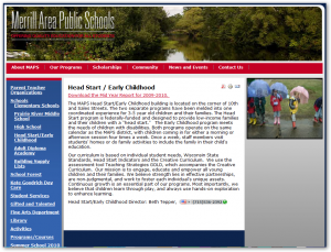 Merrill Area Public Schools MAPS Little Learners Head Start - Maps k12 wi us pages merrill area