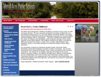 MAPS HS Website