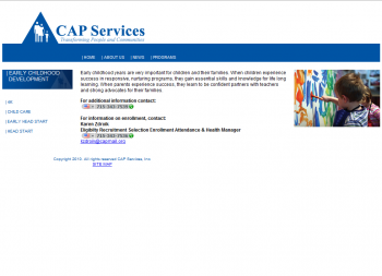 CAP Services website