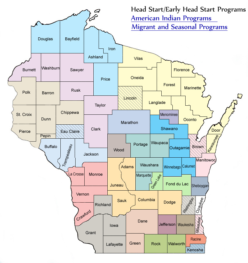 Wisconsin Head Start Map - Wisconsin Head Start AssociationWisconsin ...